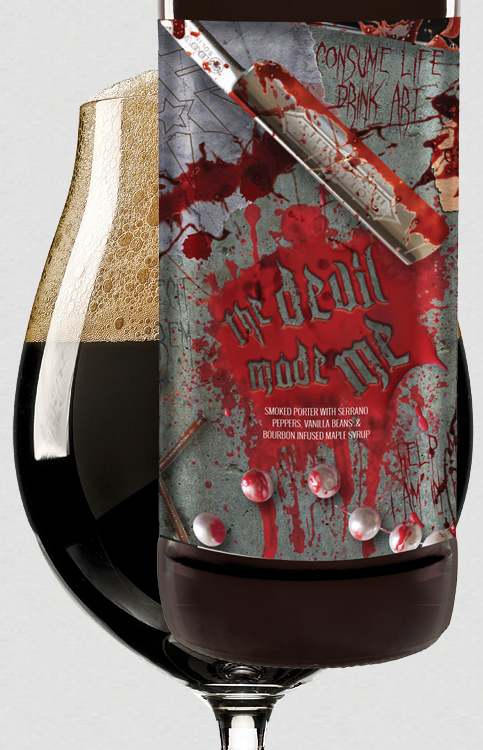 The Devil Made Me [serrano pepper, vanilla bean, & bourbon infused maple syrup] - Smoked Porter